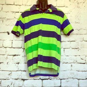 Ecko Unltd Short Sleeve Polo Shirt Green Stripe